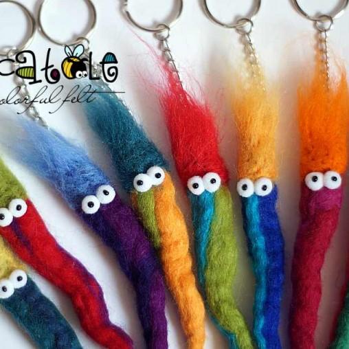 Funny keychain - worm
