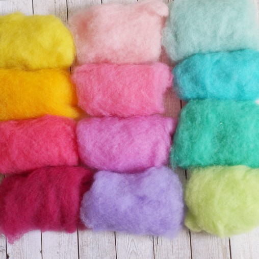CARDED WOOL SET 'SUNNY' 120g