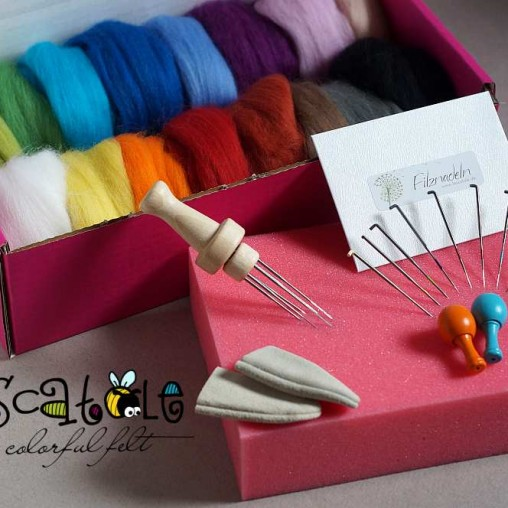 Big needle felting starter kit