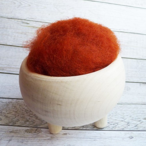 10g CARDED WOOL 'RUST'