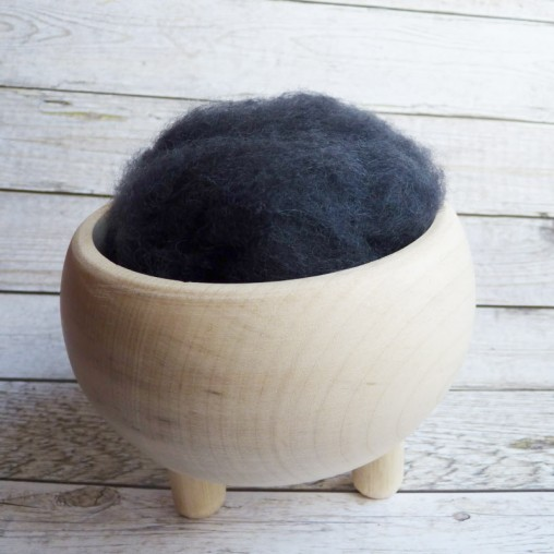 10g CARDED WOOL 'GRAPHITE'