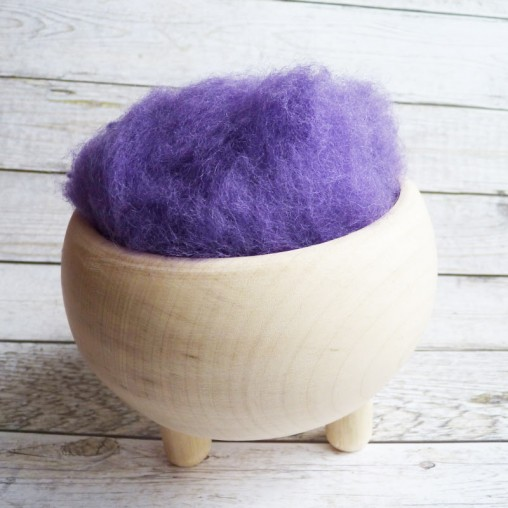 10g CARDED WOOL 'VIOLET'