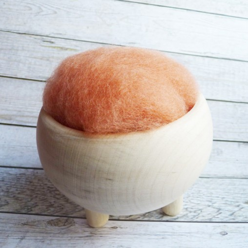 10g CARDED WOOL 'PEACH'