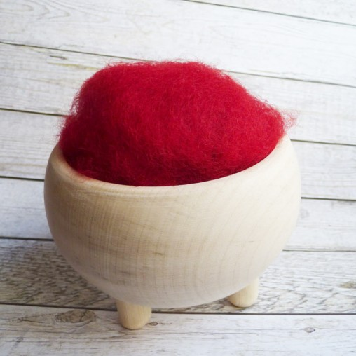 10g CARDED WOOL 'CHERRY'