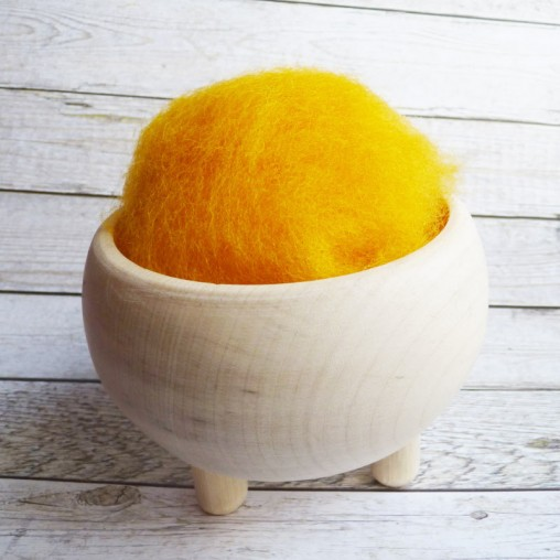10g CARDED WOOL 'YOLK'