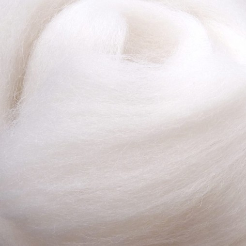 10g WOOL SLIVER - WHITE