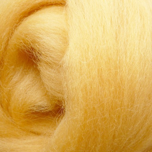 10g WOOL SLIVER - YELLOW