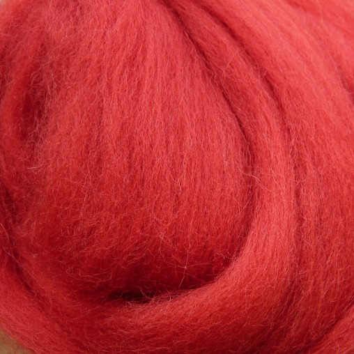 10g WOOL SLIVER - RED