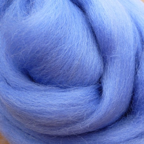 10g WOOL SLIVER - LIGHT BLUE