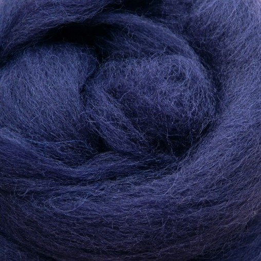 10g WOOL SLIVER - DARK BLUE