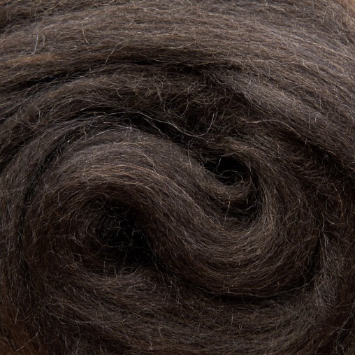 10g WOOL SLIVER - DARK BROWN