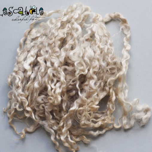 10g Mohair curls - natural...