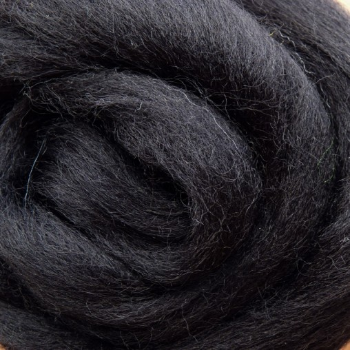 10g WOOL SLIVER - BLACK