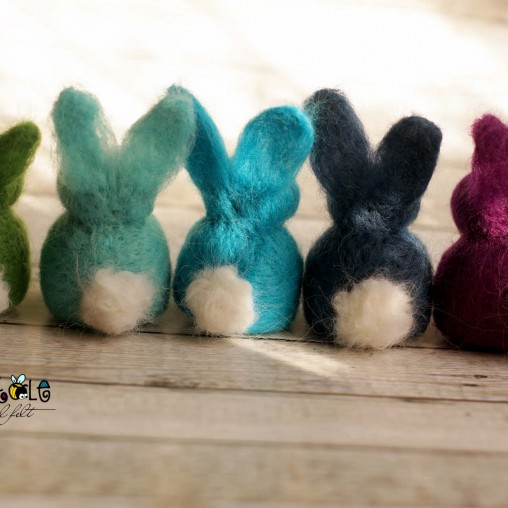 Felted bunny in your...