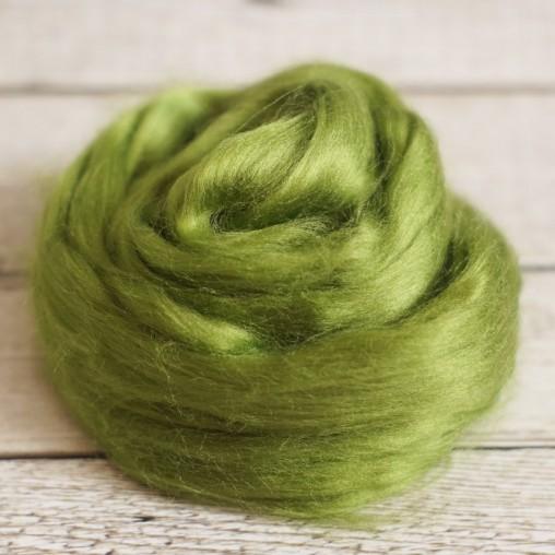 Viskose Kammzug Blattgrün