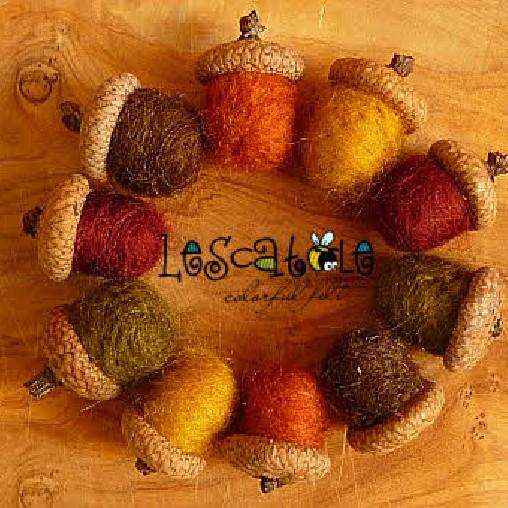 Filzeichelset Herbstfarben