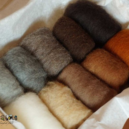 wool set natural colors