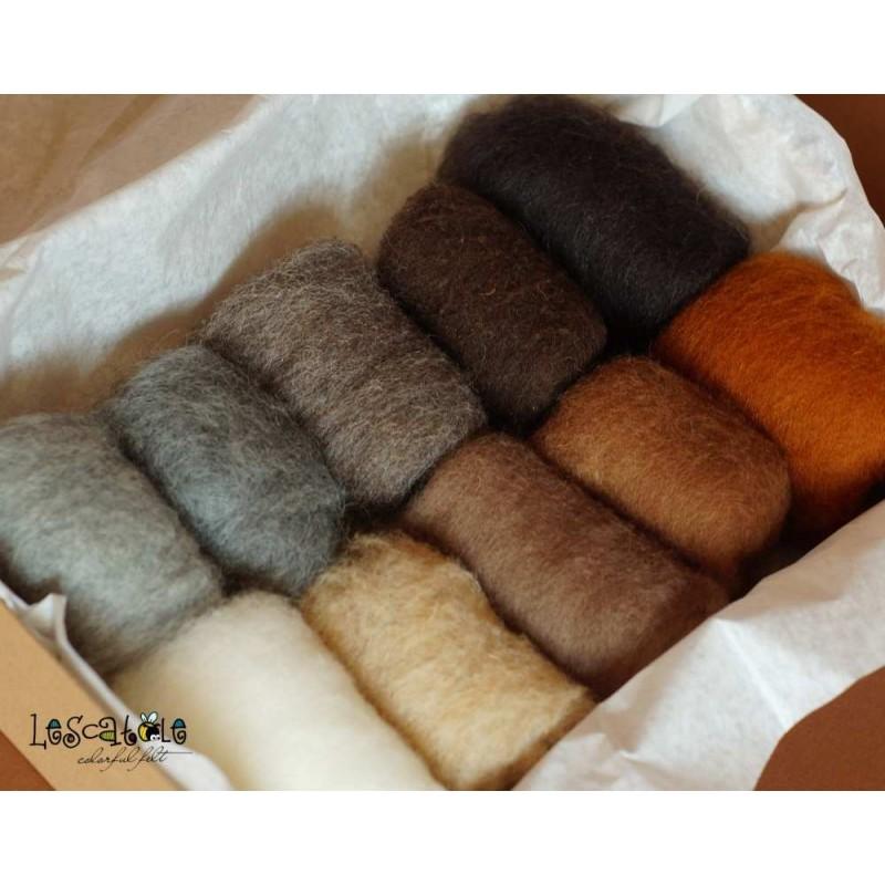 wool set natural colors