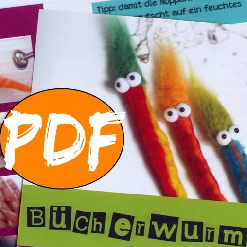 Bücherwürmer Anleitung PDF