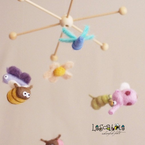 Pastel miniature mobile