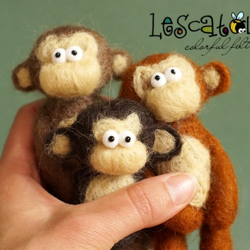 Felted monkey