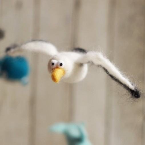 Needlefelted seagull