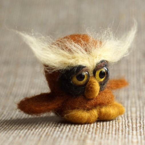 needlefelted little owl