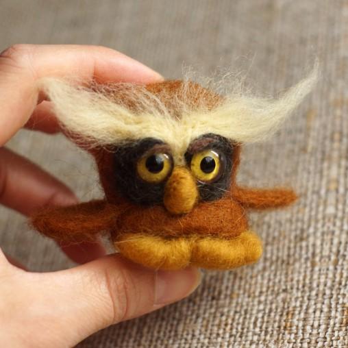 needlefelted little owl