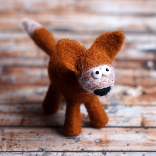 needlefelted fox