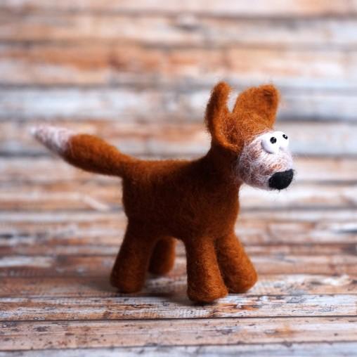 needlefelted fox