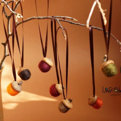 Herbstliches Filzeichelset