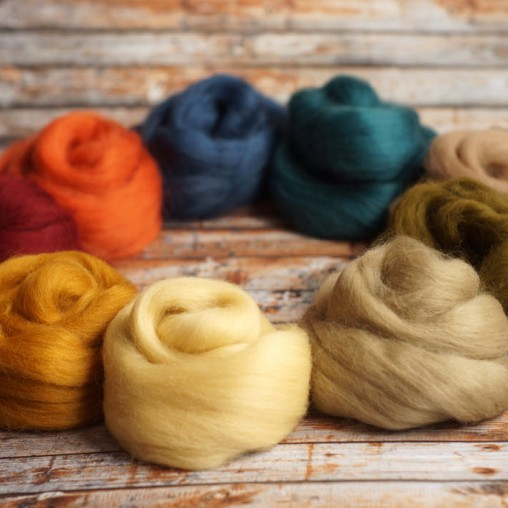 merino wool set autumn colors