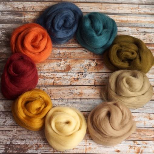 Merinowollset in herbstlichen Farben