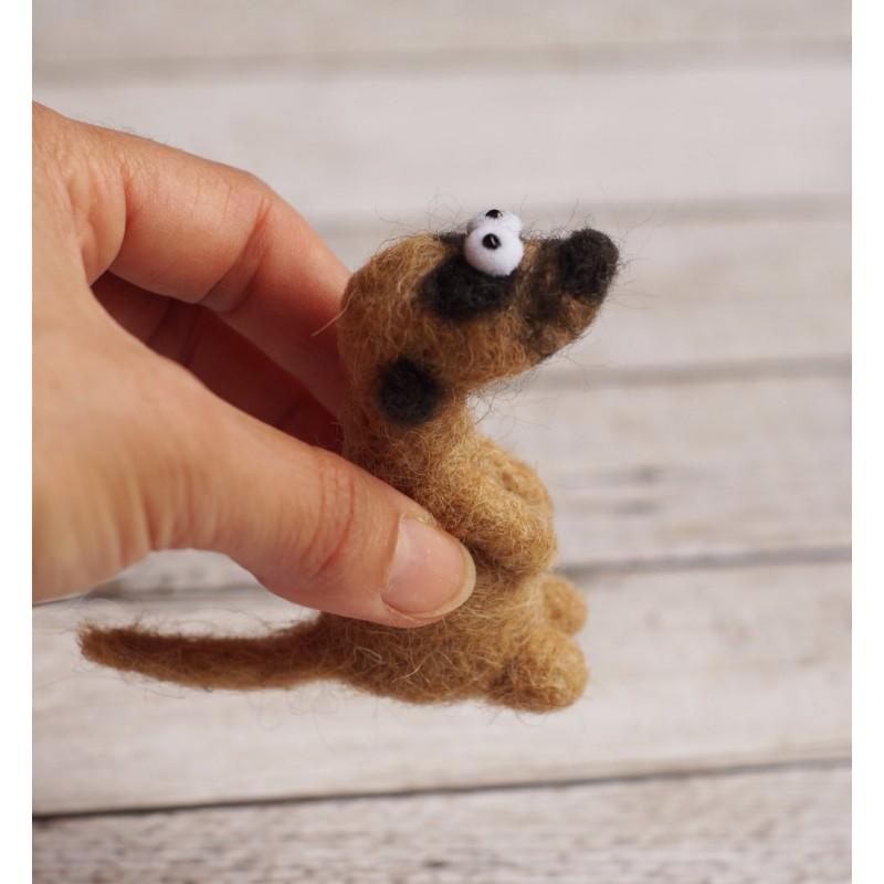 Felted meerkat