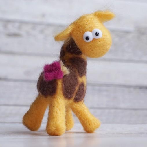 giraffe with little butterfly