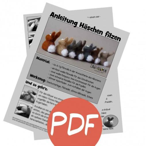 PDF Anleitung - Häschen filzen