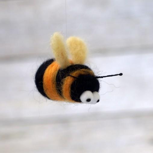 Felted bumblebee