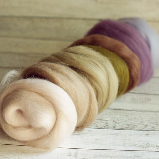Wool sliver set 'lilac,...