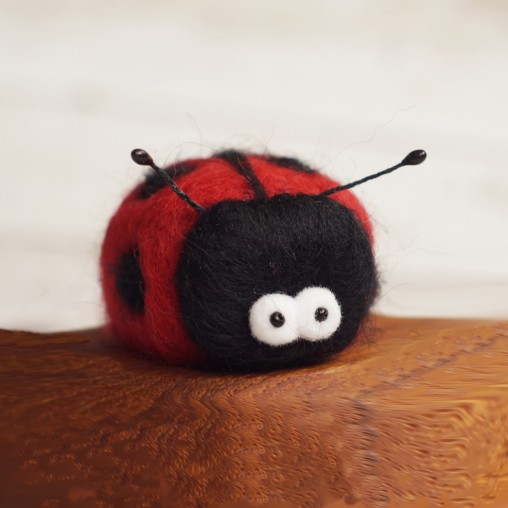 Needle felted ladybug - new