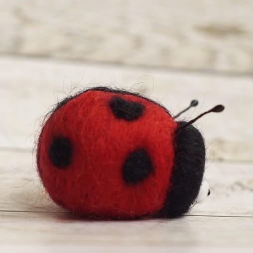 felted ladybug
