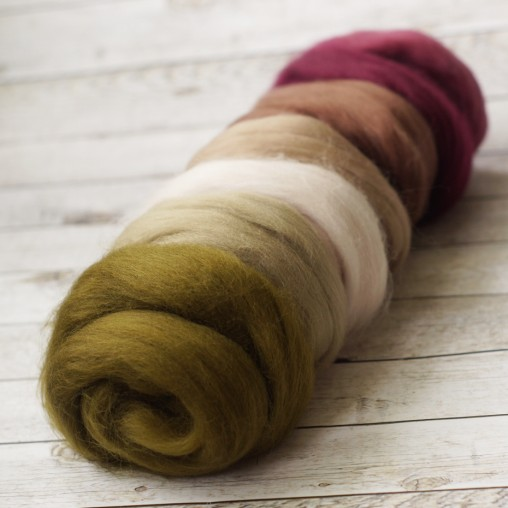 wool sliver set