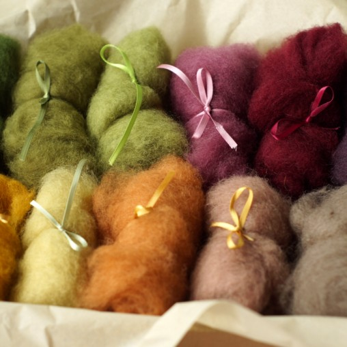 CARDED WOOL SET 'AUTUMN' 110g