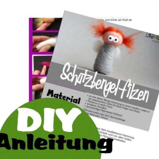 Gedruckte Anleitung - Schutzengel filzen