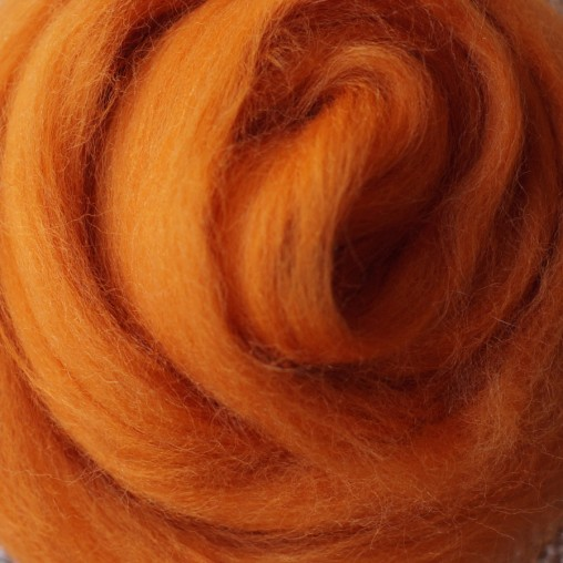 wool sliver warm orange