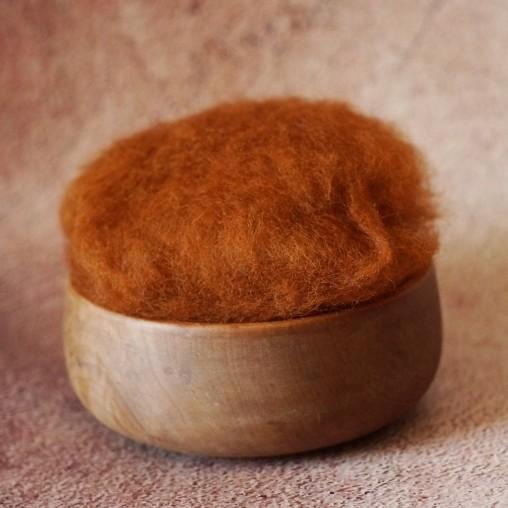 Wool batt - fox brown (10g...