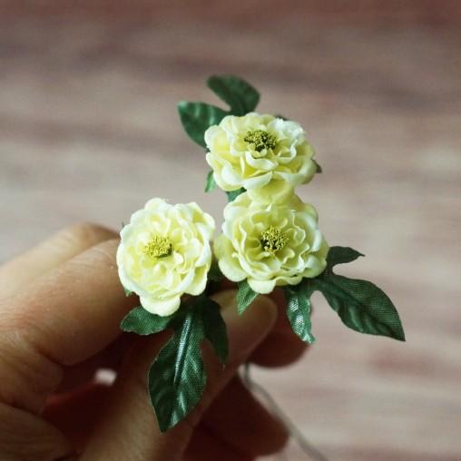 3 miniature wild roses -...