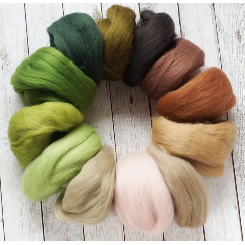 wool sliver set forest fairy