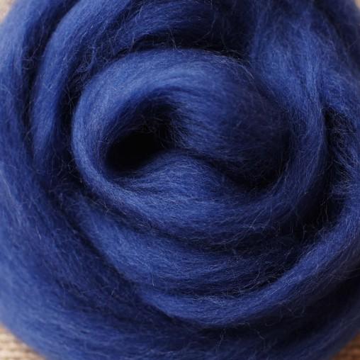 10g WOOL SLIVER - NIGHT BLUE