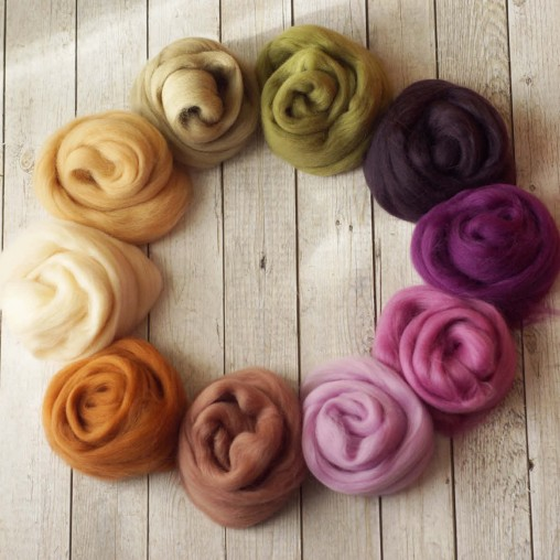 Wool sliver set 100g wool