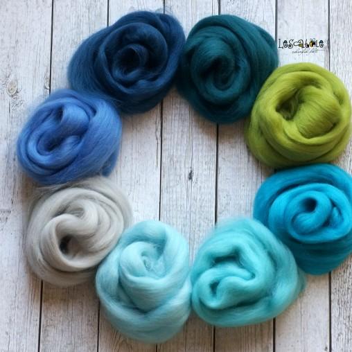 Kammzugset Blau- und Grüntöne